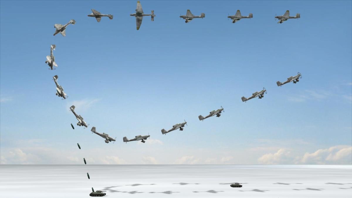 A Stuka dive-bomber was Hitler's flying artillery it was used at breakthrough points to blast holes in enemy defenses.