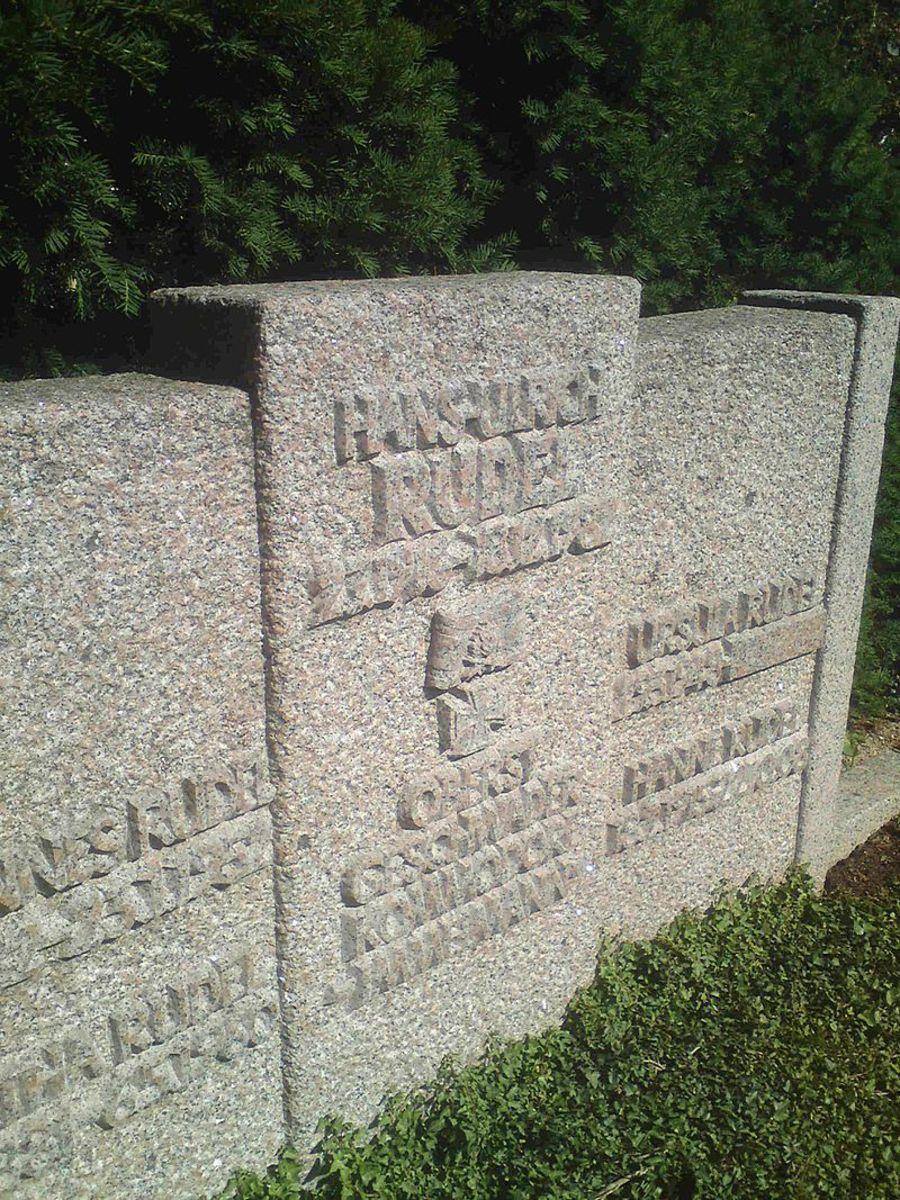 Rudel's grave in Dornhausen West Germany.