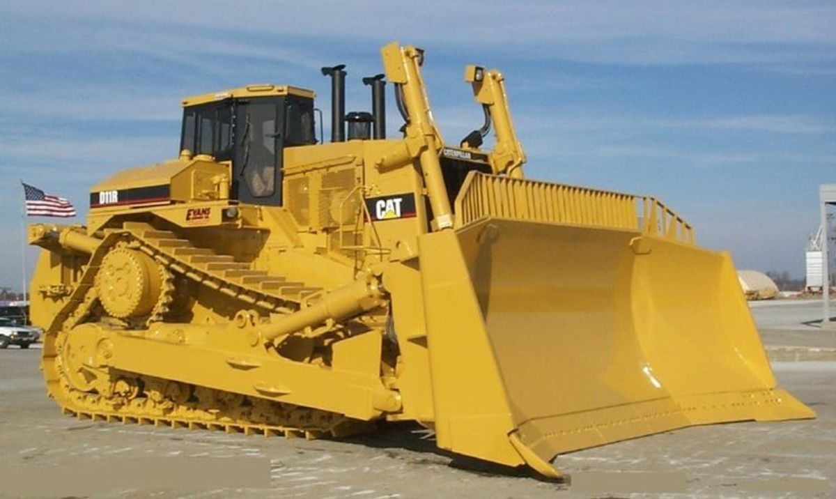 The picture is that of bulldozer used by civil engineers that specialize in construction of roads and other heavy duty engineering construction.