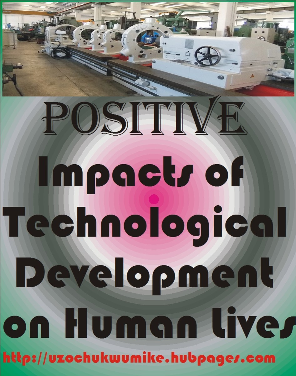 The impact of technological development in the lives of human. Technology has contributed greatly in human life improvement.