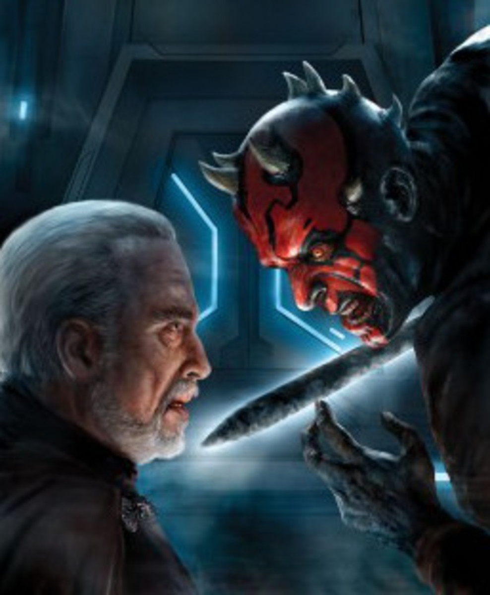 Count Dooku and Darth Maul