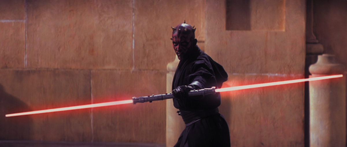 Darth Maul with saberstaff