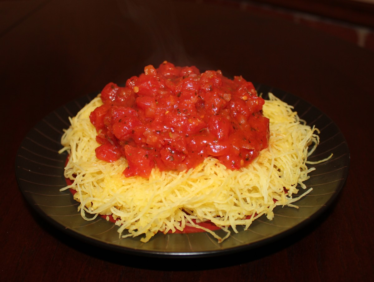 Spaghetti squash is one of the tastiest and most popular pasta alternatives.