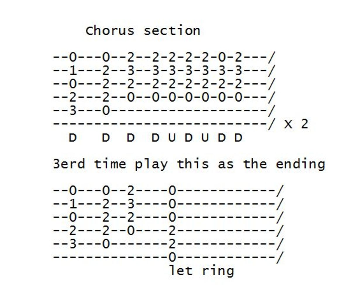 Nothing Else Matters Chorus Tab