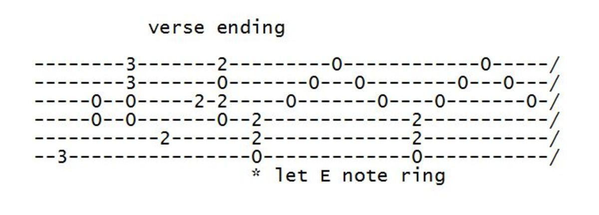 Verse ending