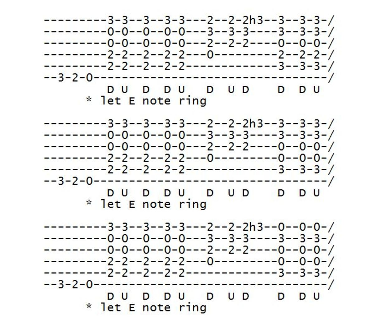 nothing else matters strumming tabs