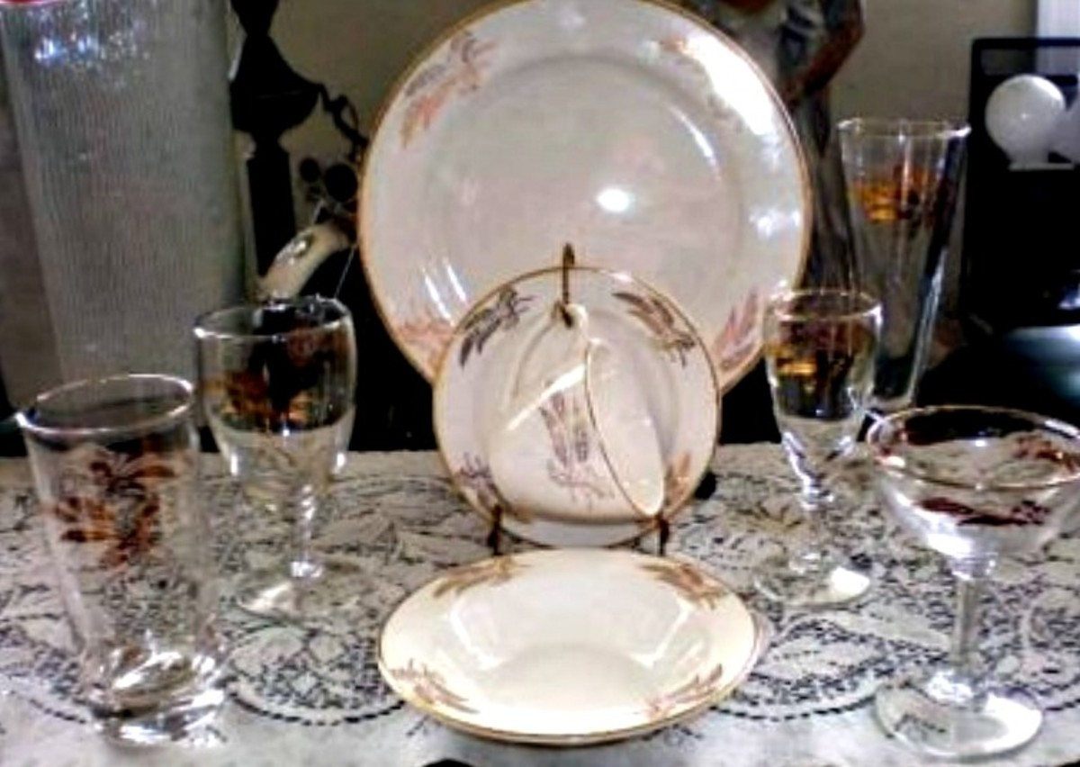 This pattern was made during the golden age of toasting glasses.  The Prairie Gold Pattern by Lifetime China in Alliance Ohio has a remarkable history and Pedigree that shows the golden age of American made stemware from the mid-century of the last c