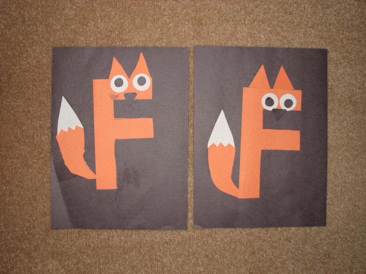 """F"" Is For Fox-Letter ""F"" Activities For Kids"