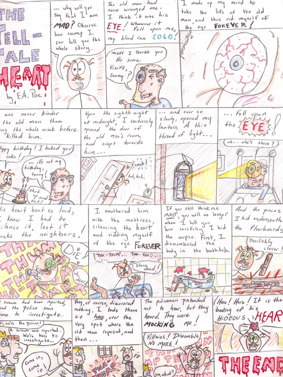 Example of graphic story. Apologies that the scan cut off the edges!