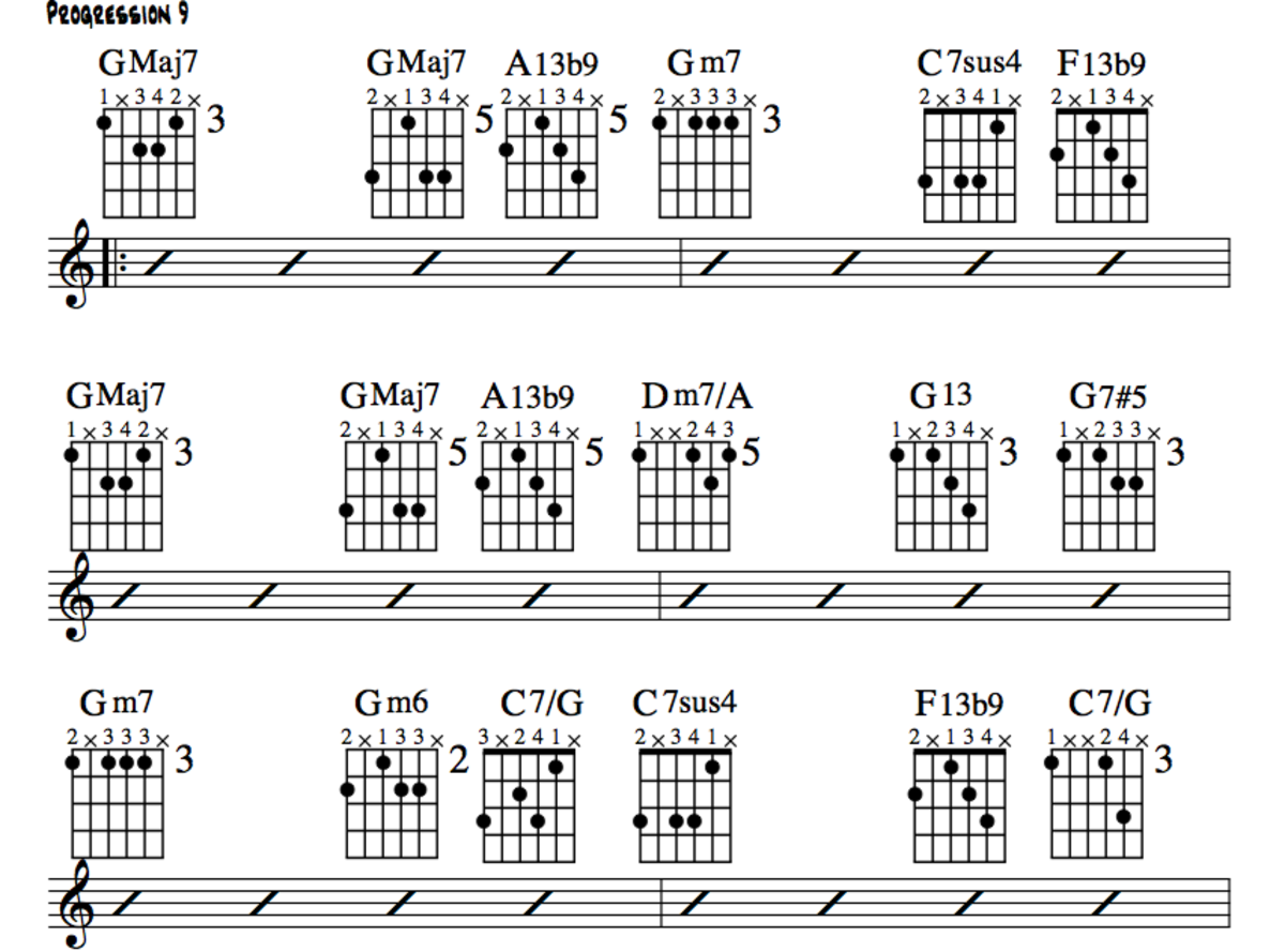 jazz guitar lessons jazz chord substitution part three charts altered chords videos. Black Bedroom Furniture Sets. Home Design Ideas