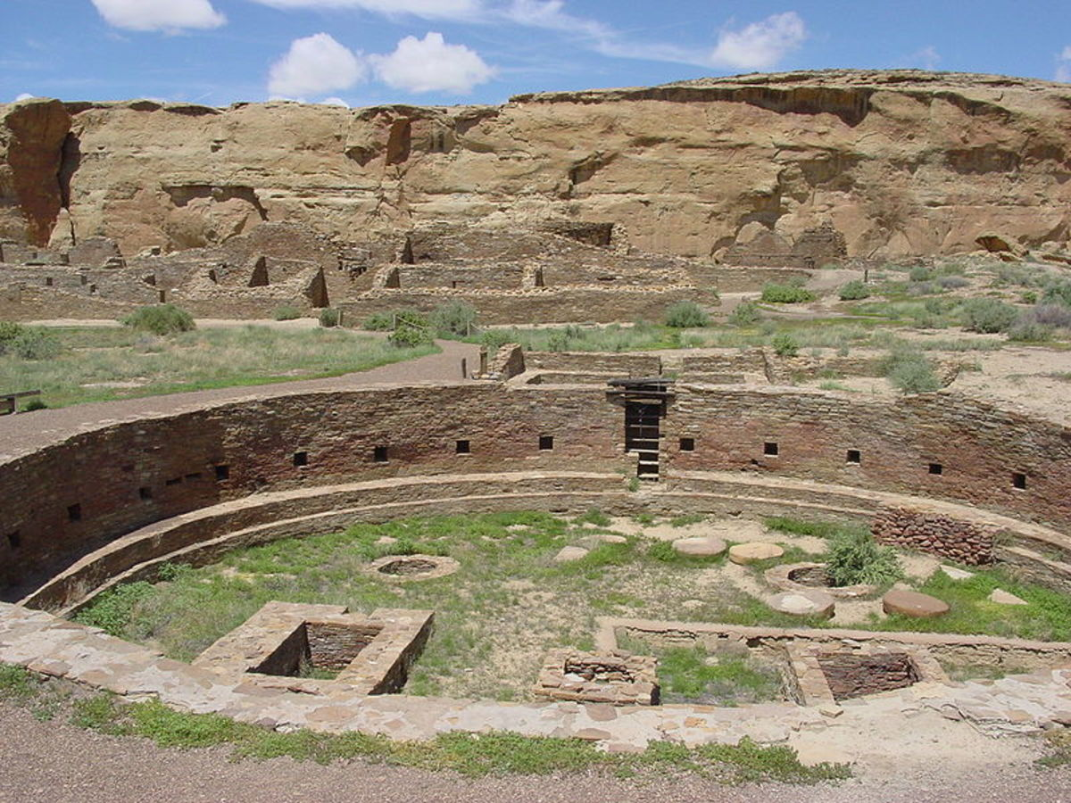 Anasazi site at Chaco Canyon
