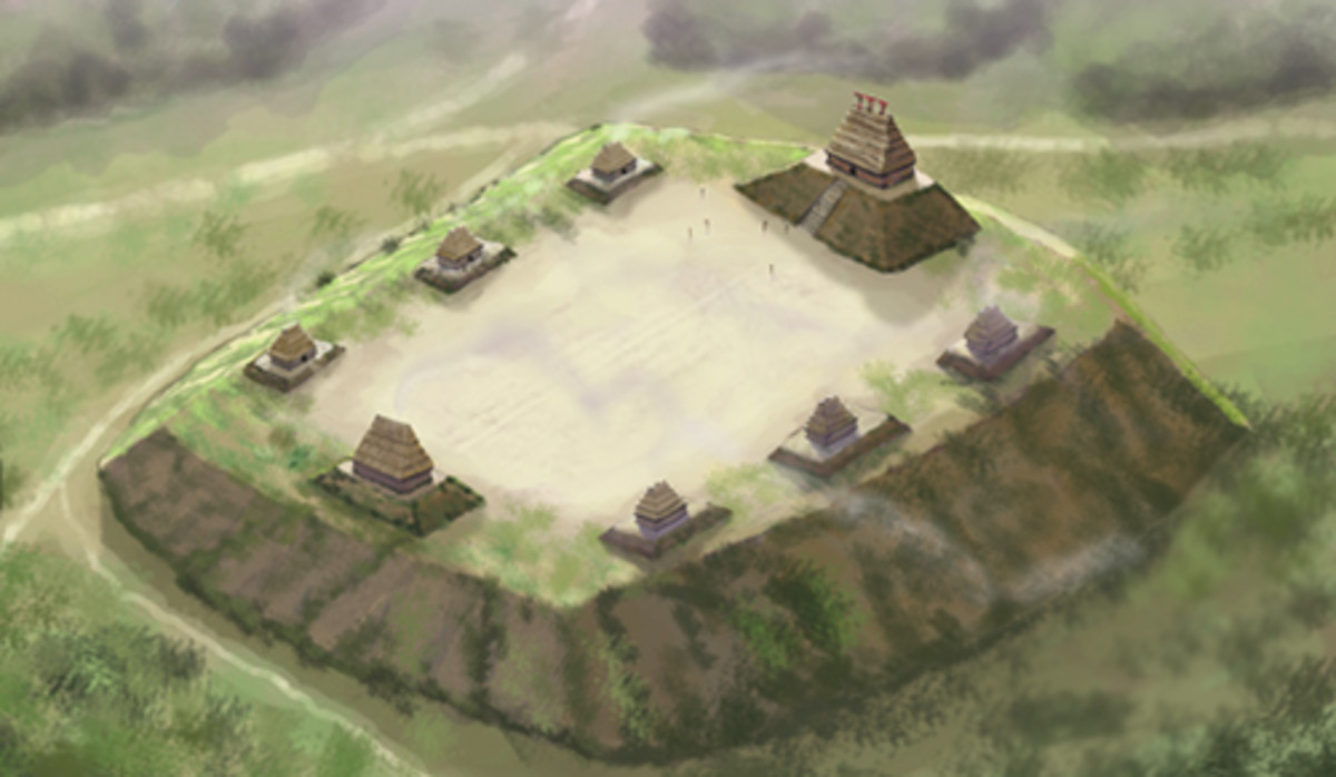 Artist's depiction of Emerald Mound