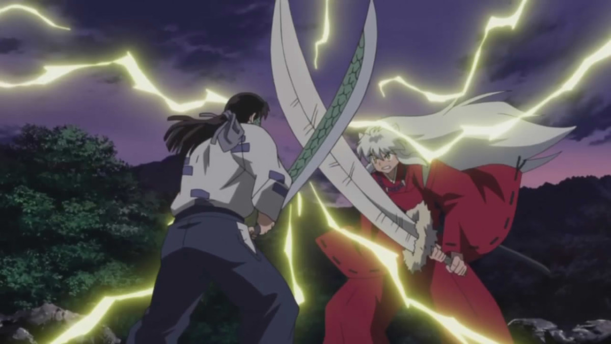 Male Powerful battle scenes enhanced with use lightening