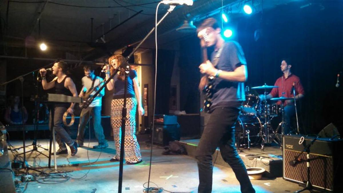 Me rockin' out with my old band! Girl Power! I feel it!