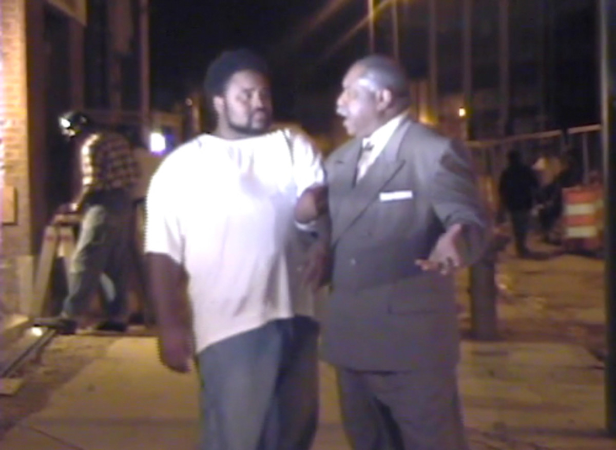 Take Me Back to Beale weaves the actual history of Beale Street within the fabric of a fictionalized plot.  CFA graduate Arthur Smith (suited) portrays the icon W.C. Handy and graduate Tony Patterson (white T-shirt) plays the character, Hank.
