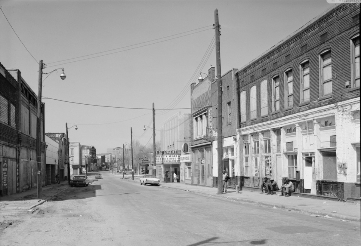 This 1974 photo of Beale Street was taken six years before the renovation of Beale Street began in 1980.