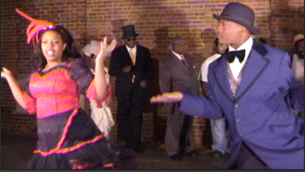 Beale Street Dancers in the early 1900s are tastefully portrayed in Book I of Take Me Back to Beale