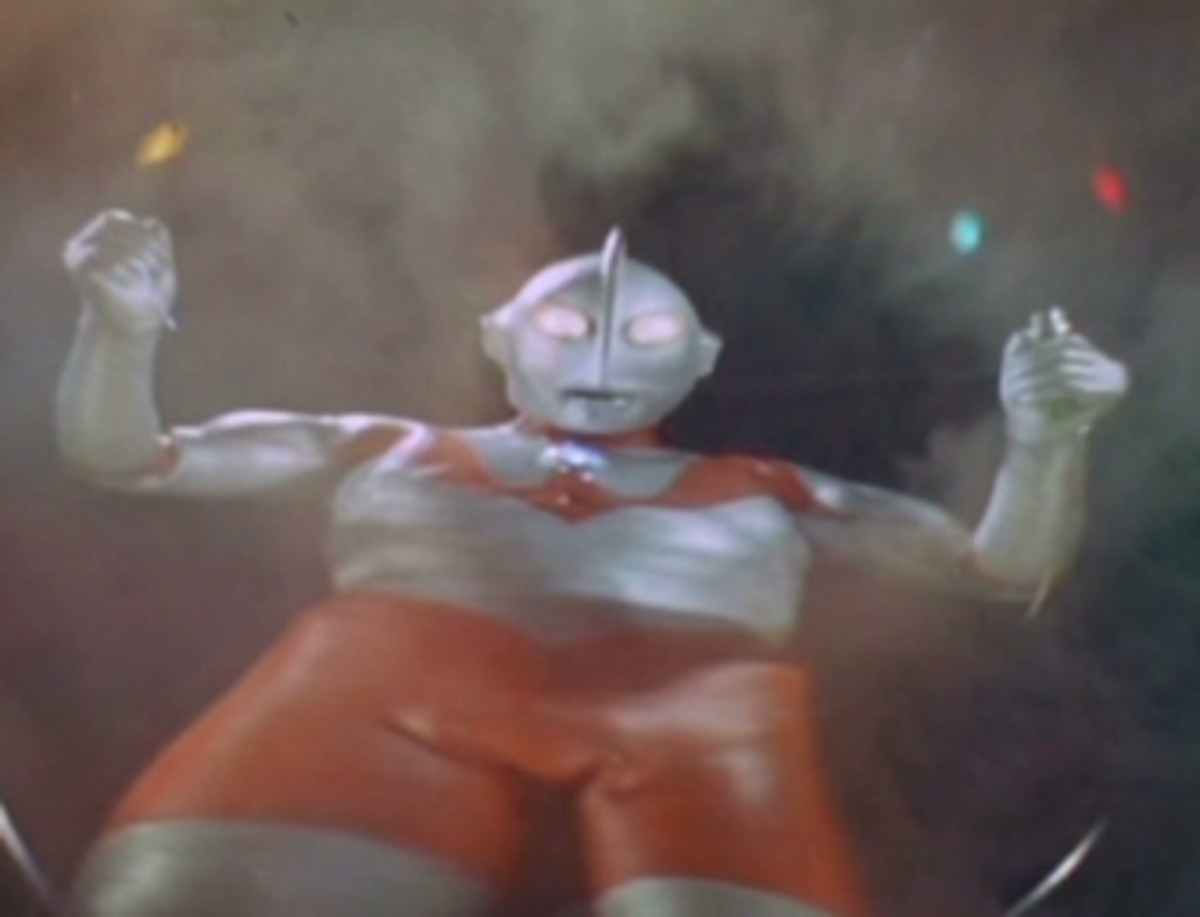 Ultraman's first appearance on screen.