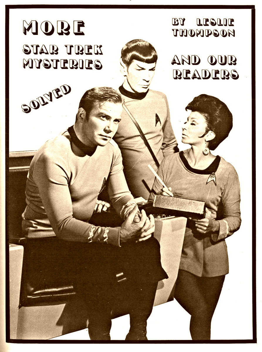More Star Trek Mysteries Solved in Trek Number 16