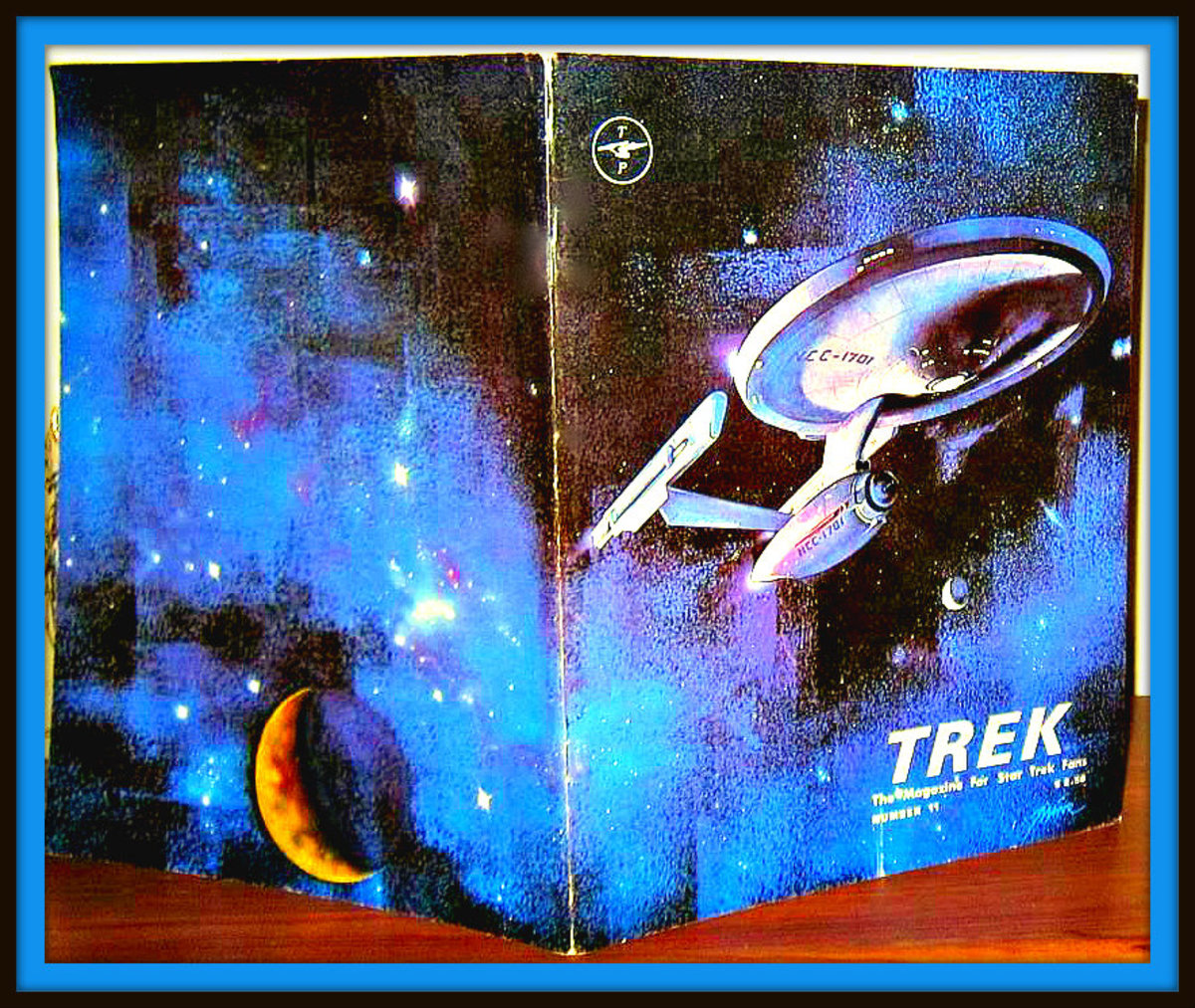 TREK # 11, The Magazine for Star Trek Fans. Printed in Houston Texas in July 1978. This is another hard to find issue there were only about 2,000 made of each issue back in these early days of the magazine.