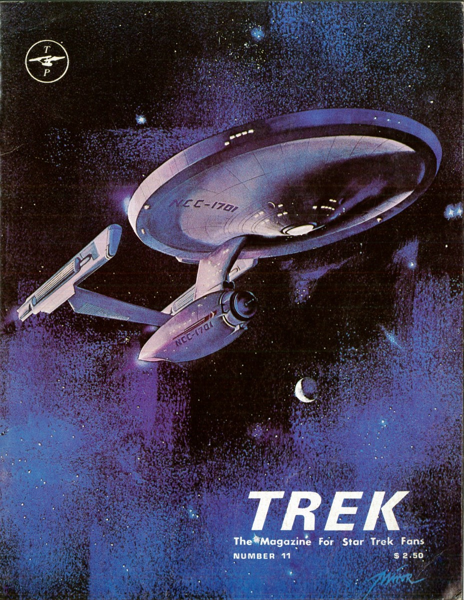 This issue has great artwork on the cover that wraps around to the back of the magazine. It shows the newer version of the Starship Enterprise on the cover heading out for new adventures.