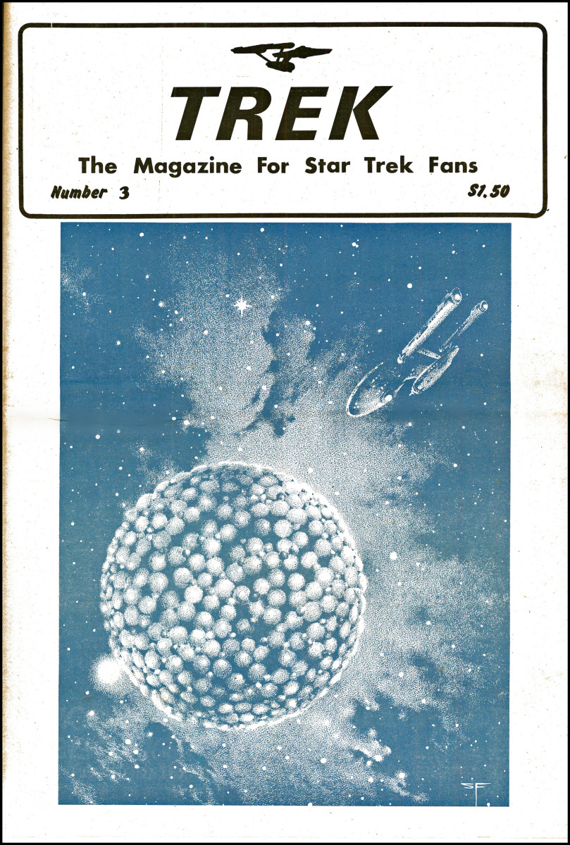 Here is the cover of a the very hard to find Number 3, Trek the Magazine for Star Trek Fans, which came out in 1976.