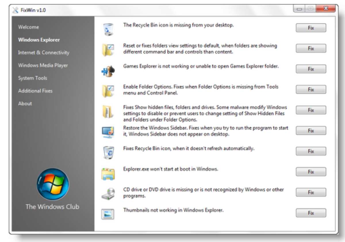 How to fix error Windows