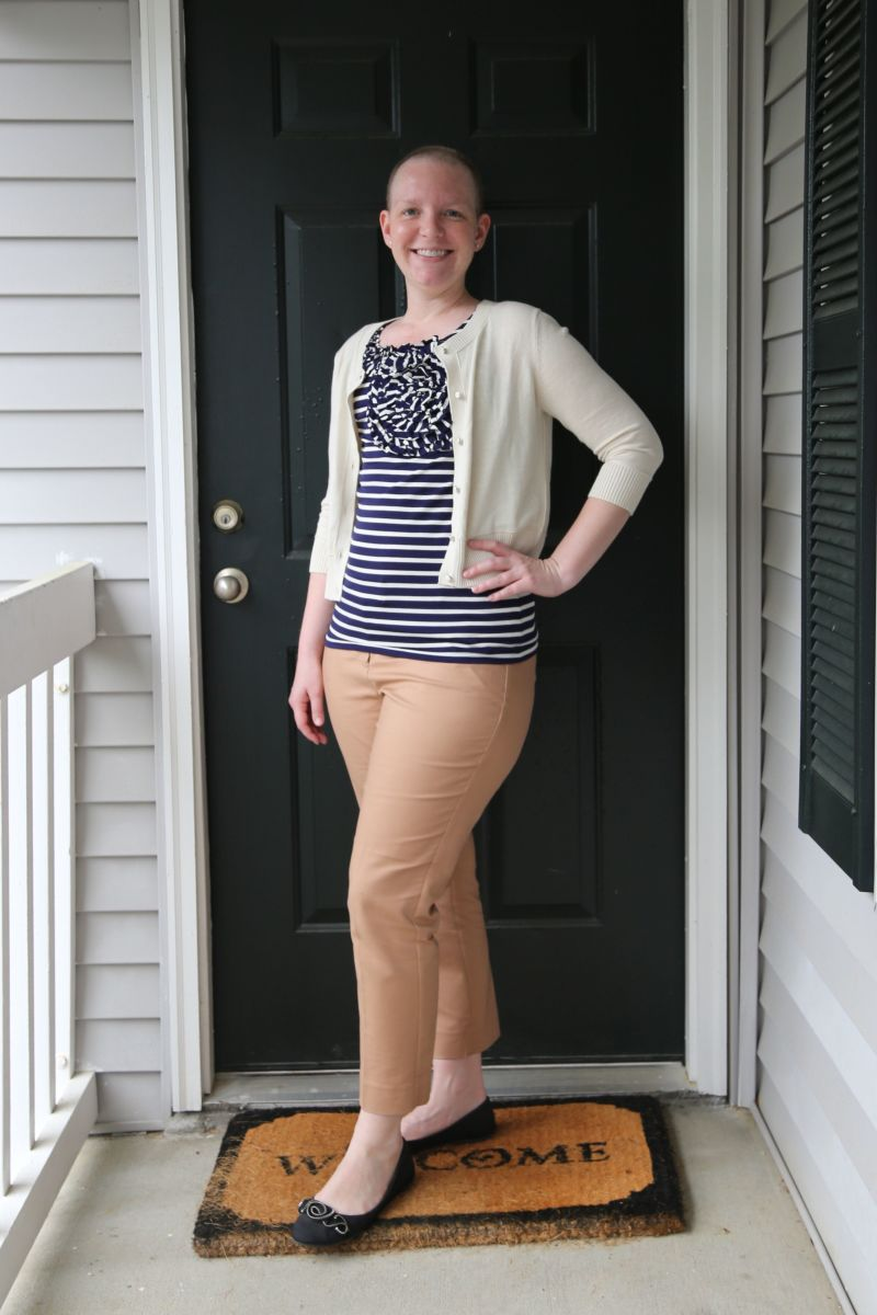 Look for tops with ruffles, bows and pleats in front.