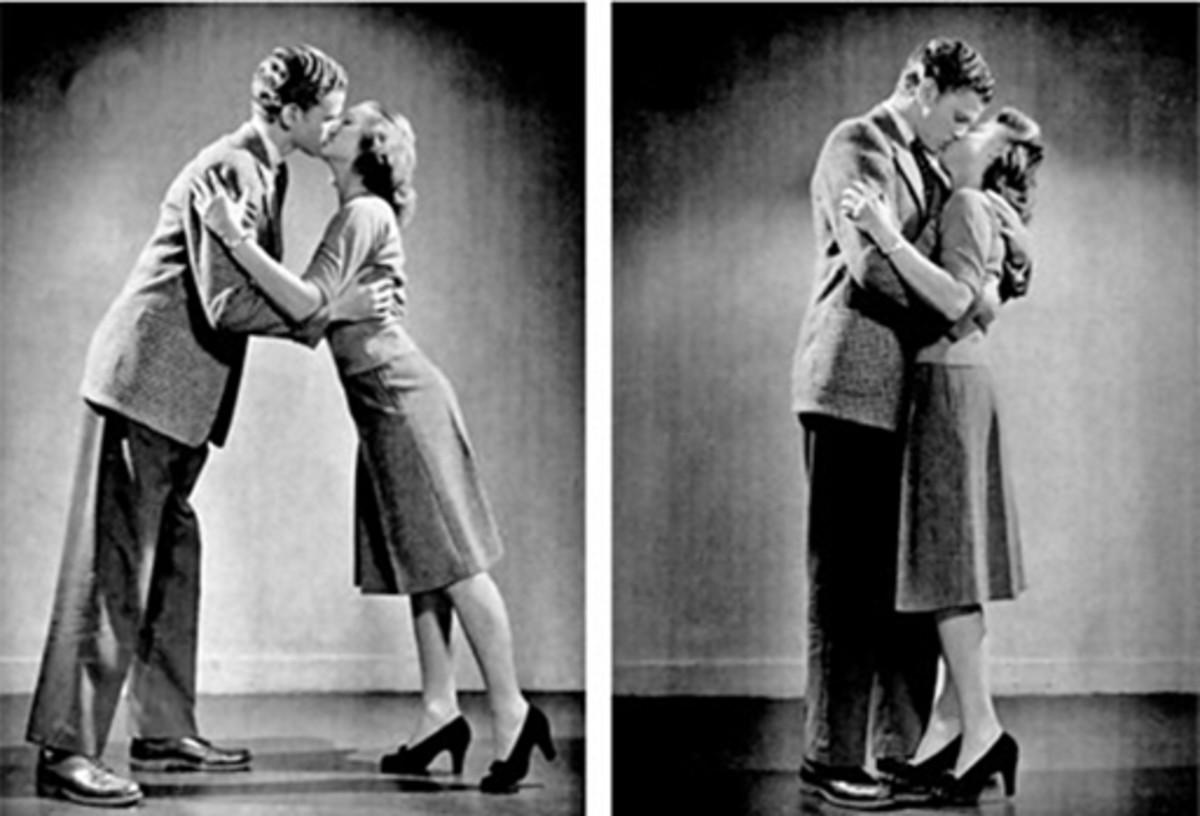 kissing in public