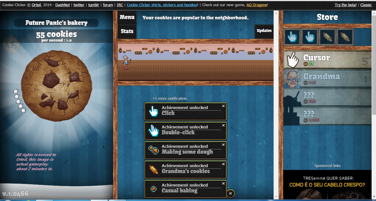 Cookie Clicker Achievements in... a 2 minute gameplay
