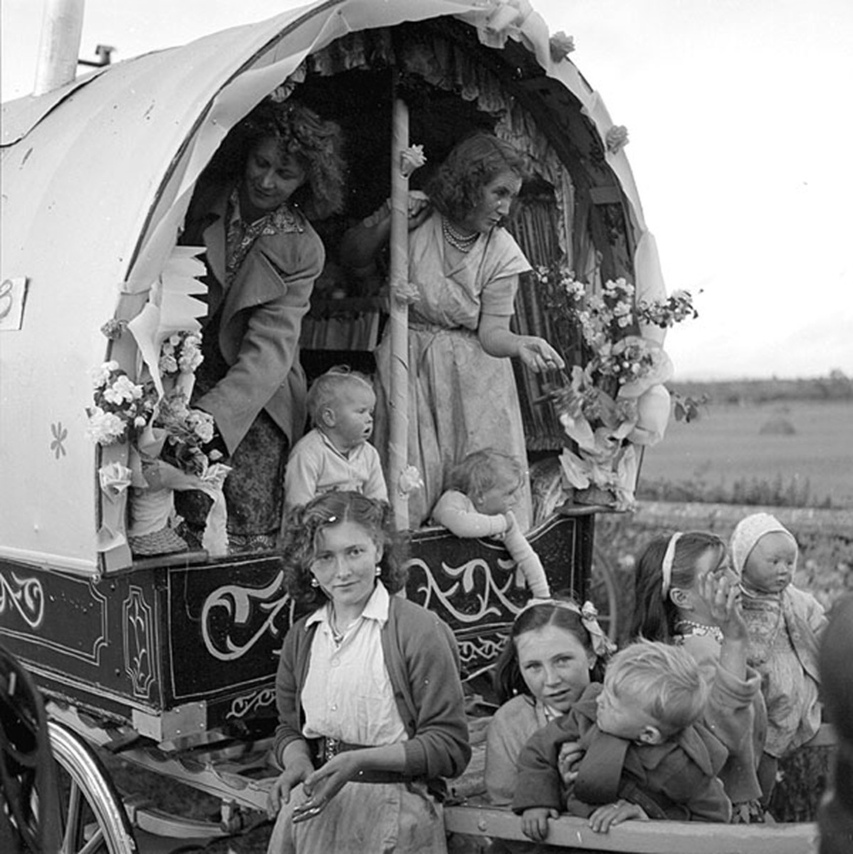 An Irish American group of travelers in the Southern United States in the mid-20th century