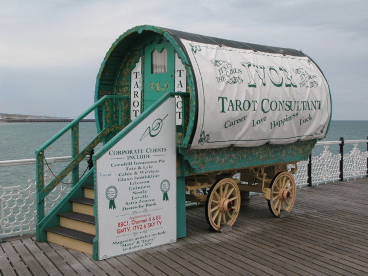A fortune-teller's caravan
