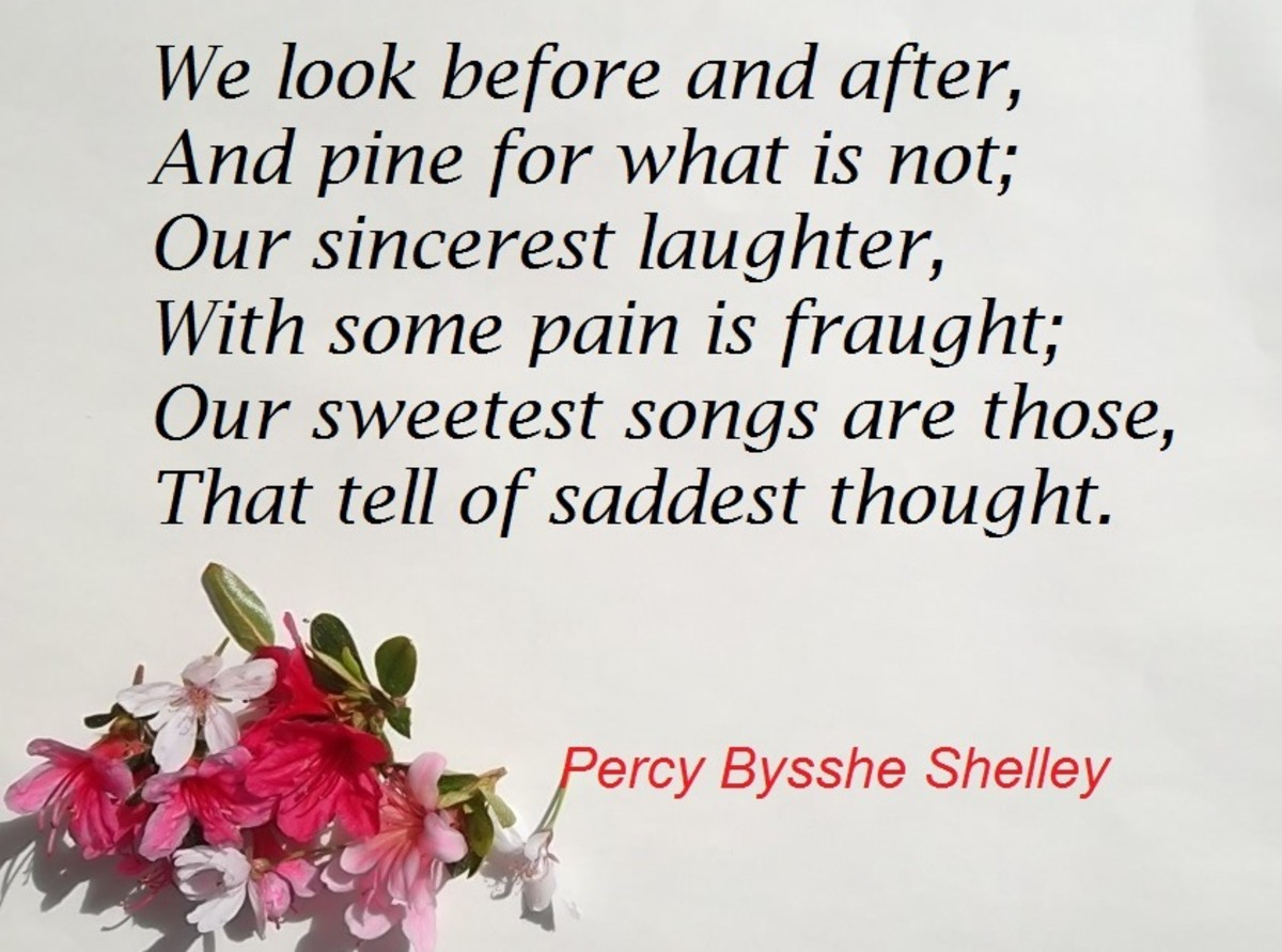 """Verse from the """"Ode to a Skylark"""" by Percy Bysshe Shelley"""