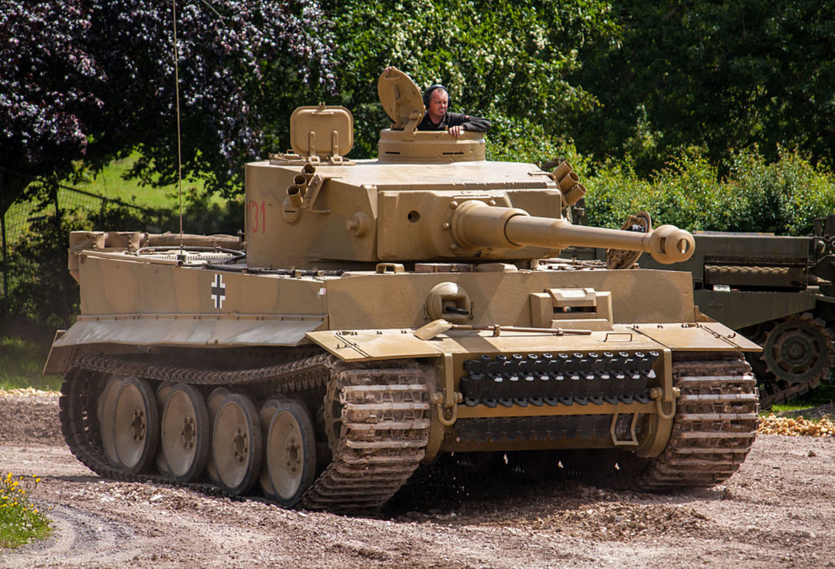 Photo by Simon Q, shows Tiger 131 in action at the Tankfest event in 2012.