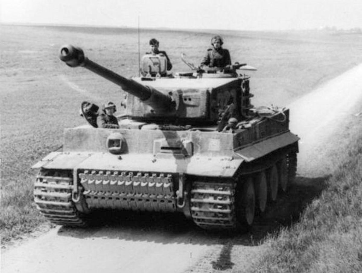 A Tiger I in action during the Second World War