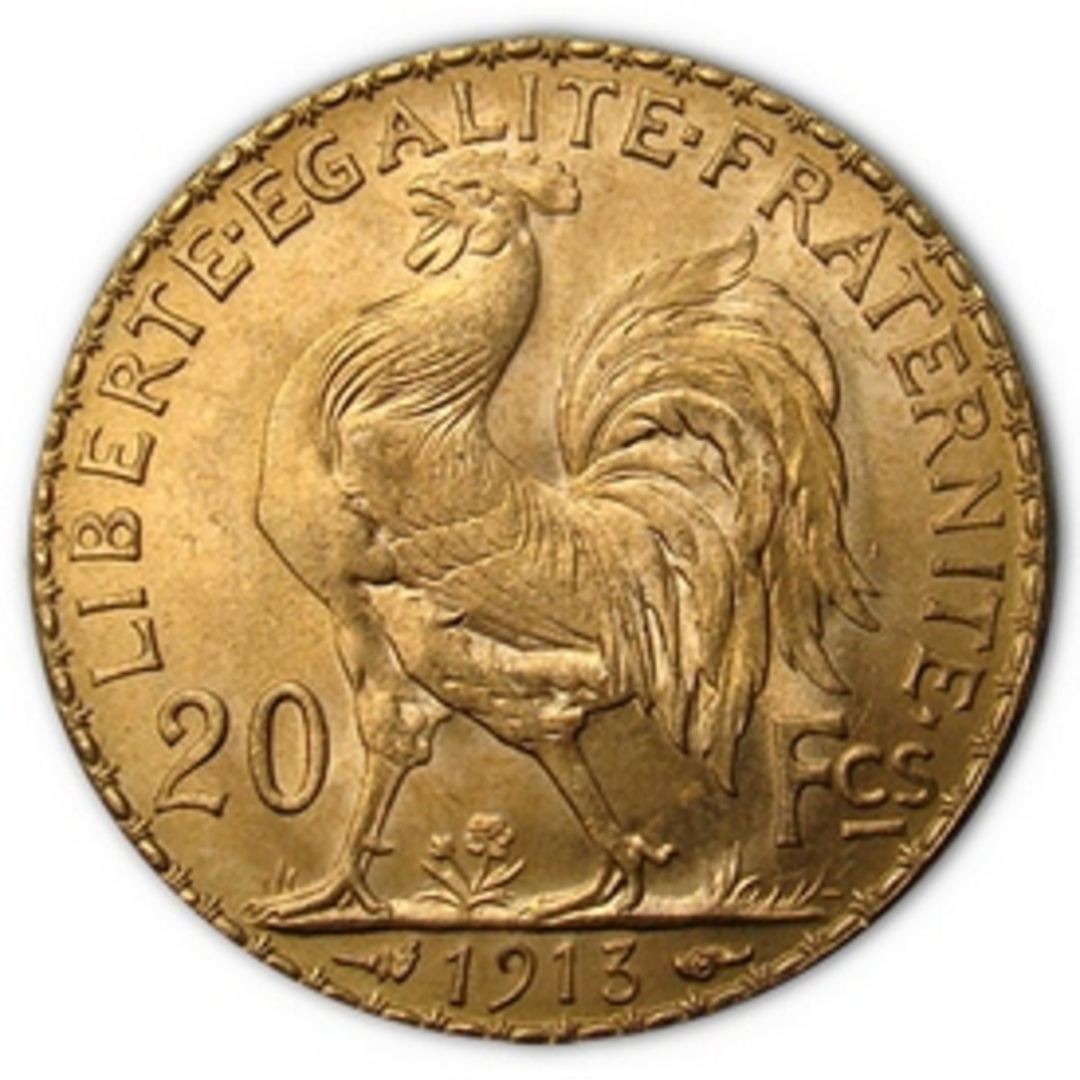 French Gold Rooster Coin