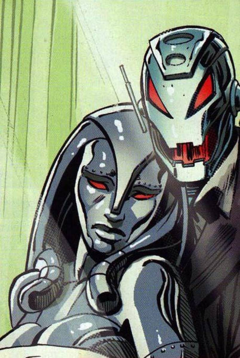 Ultron and Jocasta: No, this isn't creepy at all.
