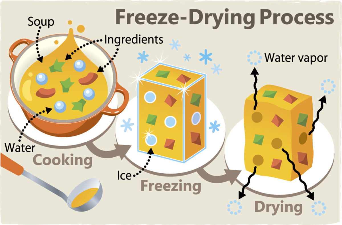 Freeze drying process