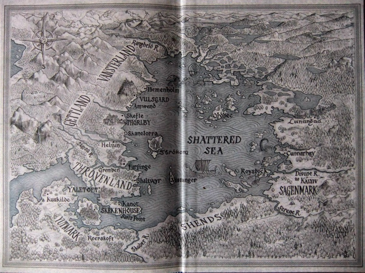 Map of the Shattered Sea by Nicolette Caven.