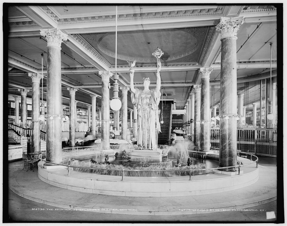 Majestic columns, before...