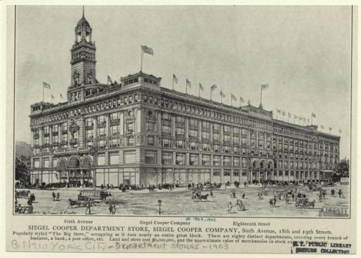 620 Sixth Avenue, as it appeared when it opened in 1896.