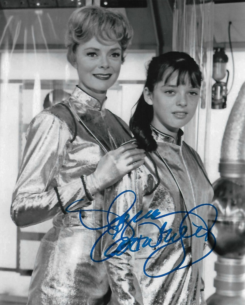 June Lockhart, and Angela Cartwright, Lost In Space :) Maureen, and Penny Robinson :)
