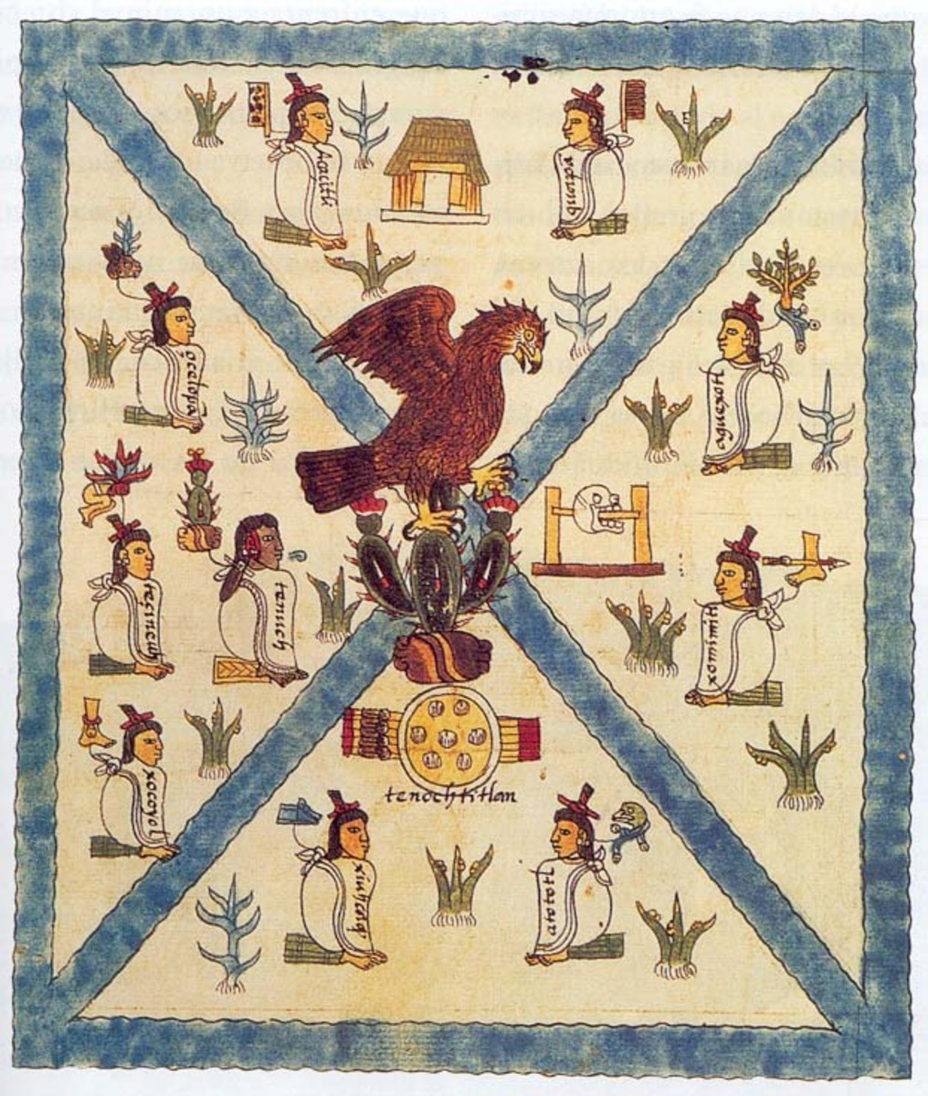 Picture of Aztec eagle, Mendez Codice