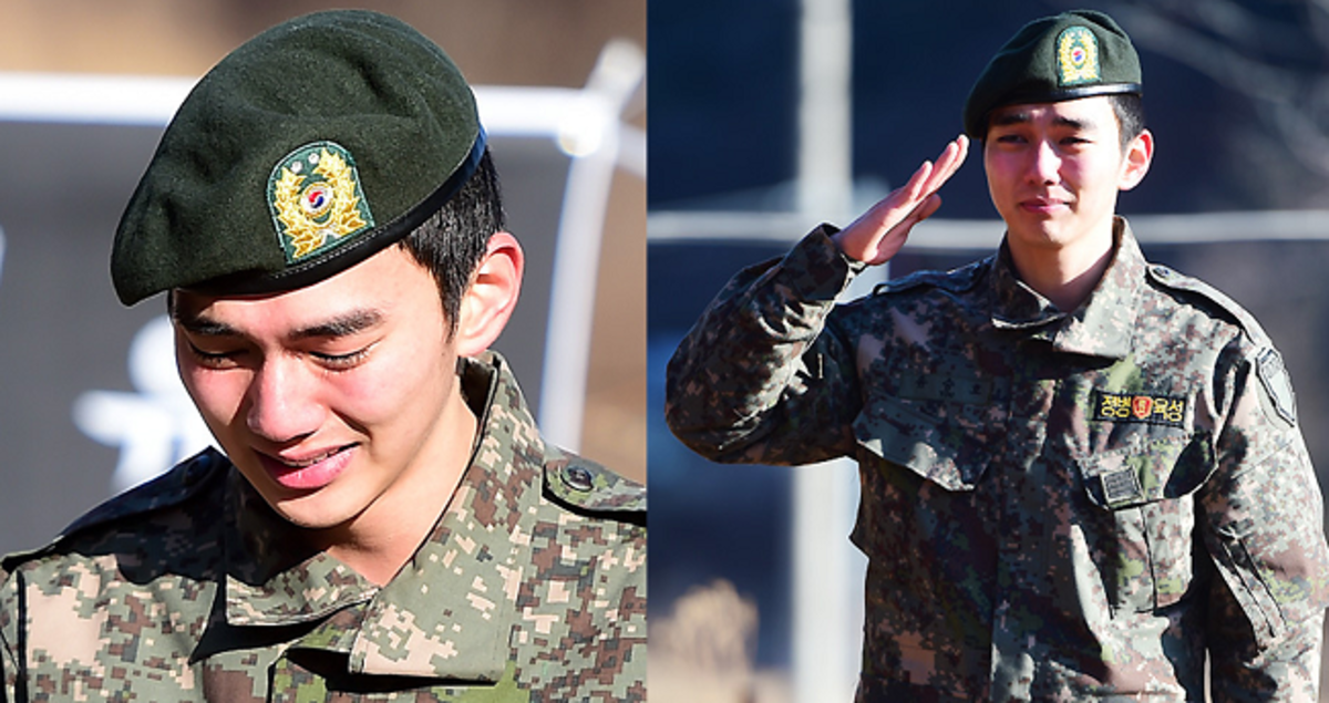 Korean actor Yoo Seung-ho who quietly enlisted for his mandatory military service as a regular soldier on 5 March 2013, reportedly working as a trainer of new recruits. He was discharged last December 4, 2014.