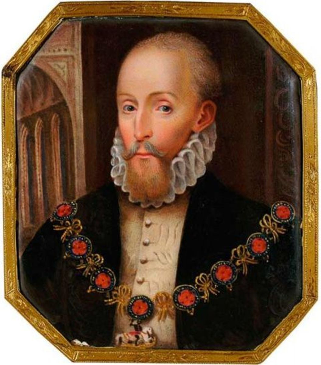 Henry Carey, Give this man a shave, put him in Elizabeth I 's wig and dress... Is this Elizabeth's brother?