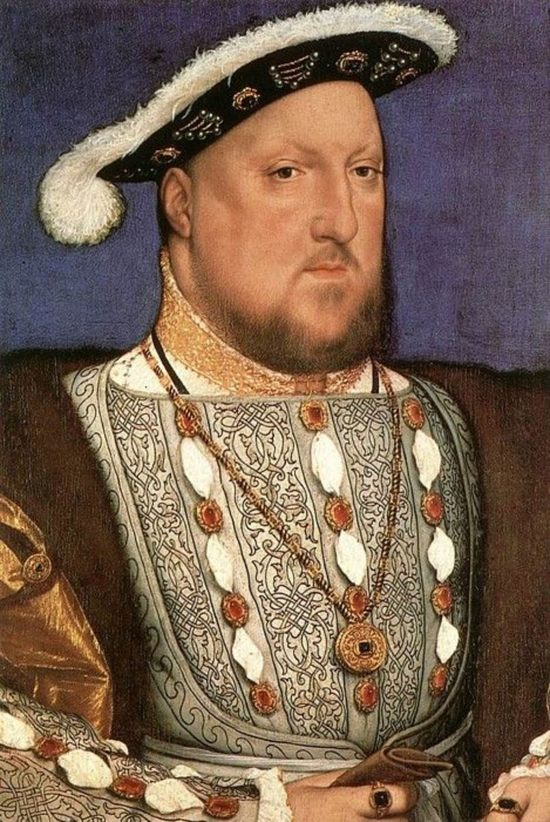 Henry VIII in slight profile, showing a unique shaped nose similar to the ones on Queen Elizabeth I and Henry Carey