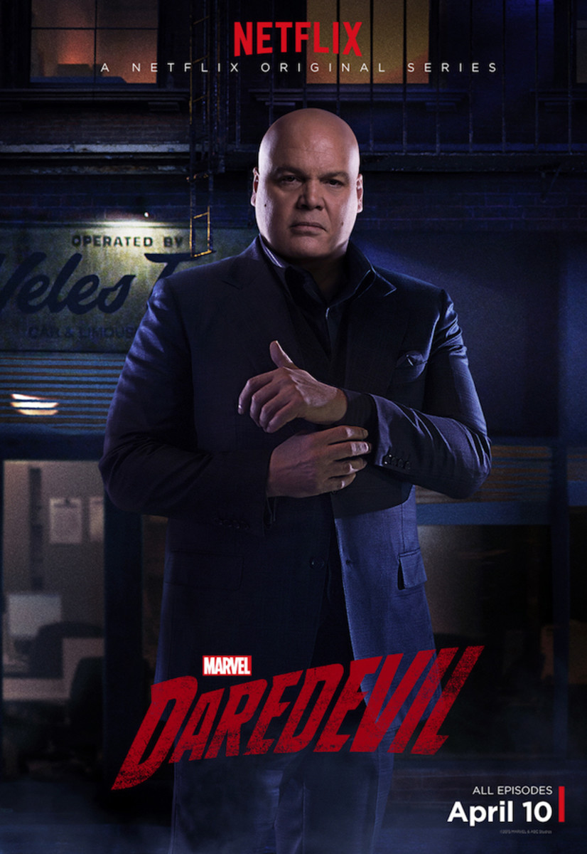Wilson Fisk (Vincent D'Onofrio) in a promotional image for Daredevil.