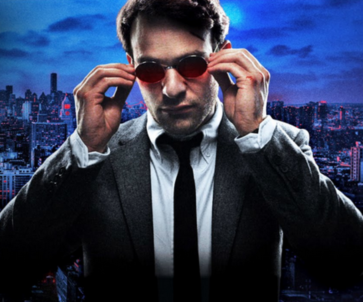 Matt Murdock (Charlie Cox) in a Netflix promotional image for Daredevil.