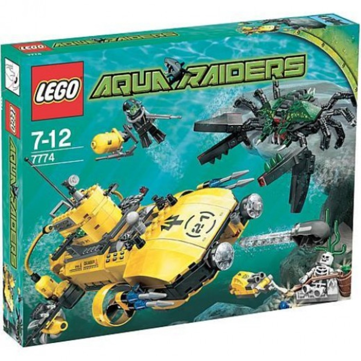 LEGO Aqua Raiders Crab Crusher 7774 Box
