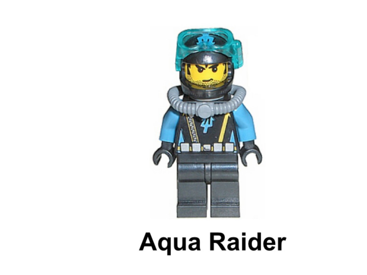 LEGO Aqua Raiders Deep Sea Treasure Hunter 7770 Aqua Raider Minifigure